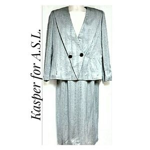 Woman's Vintage Kasper Maxi-Skirt Suit Set Size 6